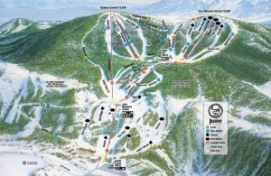 June Mountain Ski Resort Trail Map